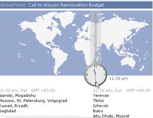 Scrybe Calendar Timezone Map