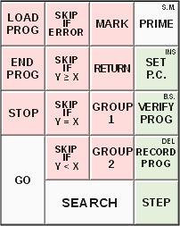 Wang Series 700 programming pad