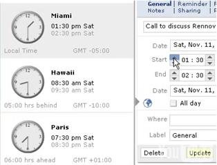 Scrybe Calendar Timezone